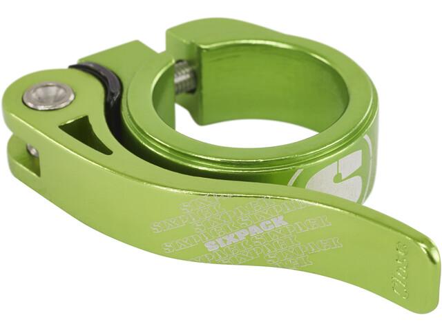 Sixpack Menace Sattelklemme 31,8mm electric-green